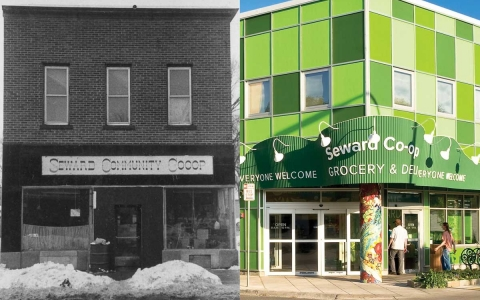 Seward Co-op, old and new