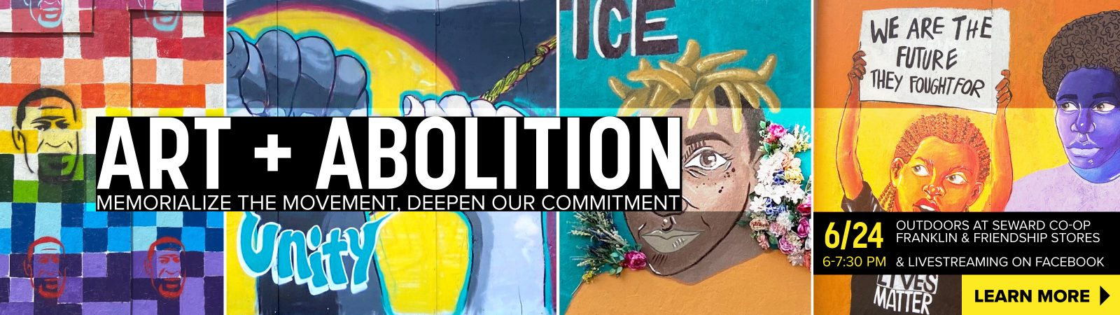 """Learn more about """"Art + Abolition"""" event on June 24th"""