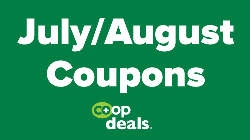 July/August Coupons