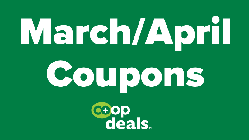 March/April Coupons